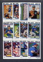 2004 Topps Toronto Blue Jays TEAM SET