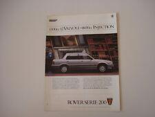 advertising Pubblicità 1986 ROVER 213 SE