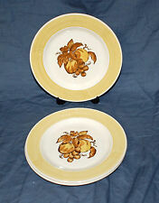 "(3) 7-1/2"" Salad  Plates  Metlox Pottery   Golden Fruit  Light Crazing"
