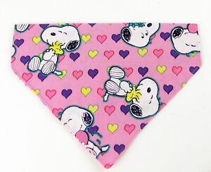 Snoopy Dog Bandana, Over the Collar dog bandana Peanuts Dog collar bandana puppy