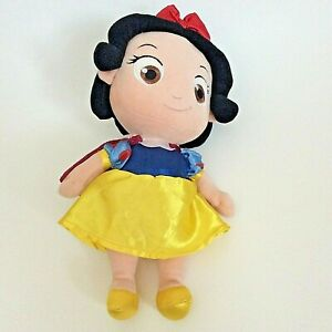 """The Disney Store Plush Princess Young Girl Snow White Toddler Baby Doll Toy 13"""""""