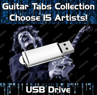 15 x ARTISTS COLLECTION MULTIBUY GUITAR TABS TABLATURE TUITION SOFTWARE USB