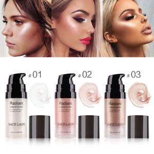 Face Highlighter Cream Liquid Illuminator Makeup Shimmer Glow Brighten-HOT
