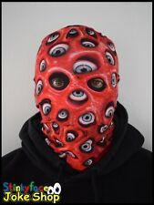 Red Eye Demon Scary Horror Full Head Mask Realistic Printed Lycra for Halloween