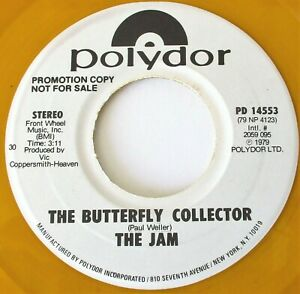 """The Jam - The Butterfly Collector USA 1979 Polydor Yellow Promotional 7"""" Single"""