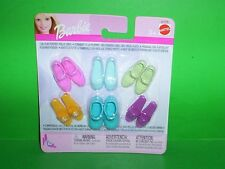NIP Mattel Barbie Shoes 4 Flat Foot Dolls Jazzie Sandals Mary Janes Ballet Flats