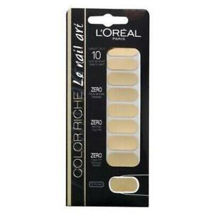 Loreal Colour Rich Nail Stickers (18 Stickers)  007 FEUILLE D'OR