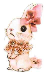 cute bunny rabbit iron on t shirt transfer A5