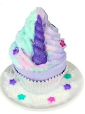 Unicorn Cupcake Bath Bomb with Bubble Frosting