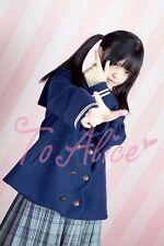 Cute Lolita Girls Japan Sailor Style Woolen Winter Coat Jacket SIZE M