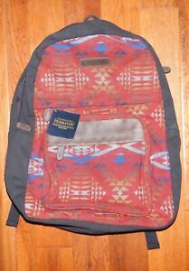 Pendleton Wool B and Canvas Backpack - Diamond River Red - New