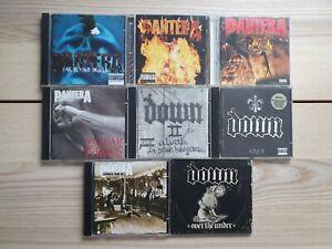 8 x Pantera & Down CD Lot Bundle Collection