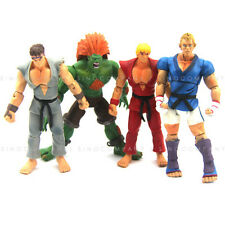 4pcs JAZWARES STREET FIGHTER Collect RYU BLANKA KEN ABEL 4'' ACTION FIGURE Toy