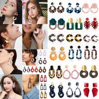 Fashion Women Geometric Acrylic Dangle Drop Statement Resin Earrings Jewelry