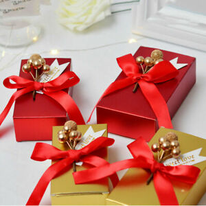 10Pcs Paper Candy Boxes Romantic Gift Bags Birthday Party Wedding Candy Box Bags