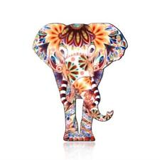 CG3013...ACRYLIC BROOCH - MULTI-COLOUR ELEPHANT - FREE UK P&P