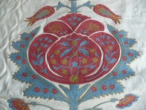 1Y BRUNSCHWIG & FILS FLOWERS OF JAMAKHANA TEA ROSE/STONE BLUE MSRP 596/Y