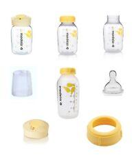 MEDELA Breast Milk Storage Bottle Collar Ring Labeling Lid Nipple Pick New Parts