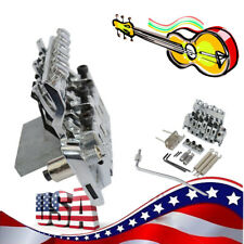 Silver Double Locking Tremolo System Bridge For Electric Guitar 6 Strings