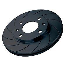 Black Diamond 12 Groove Front Brake Discs for Lancia Phedra 3.0 V6 (02 on)
