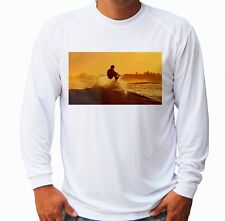 Wind Surfing Long Sleeve Upf 30 T-Shirt Boat Beach Sport Uv Protection Gift Art