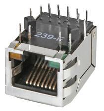 SOCKET 1 PORT MAGJACK G/Y LED Connectors Modular