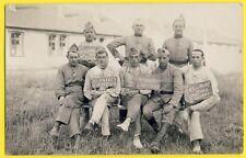 cpa Carte Photo CAMP de SISSONNE (Aisne) MILITAIRES SOLDATS du 15e Régiment