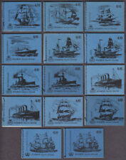 1968/70 4/6d SHIP SERIES BOOKLETS SGLP46/SGLP59 SET OF 14 DIFFERENT