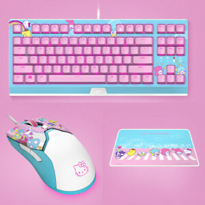 Razer x Sanrio Hello Kitty¹ Mechanical Keyboard, Mouse and Mouse Pad Combo