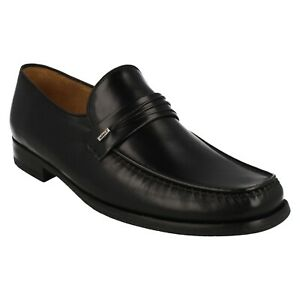 MENS LOAKE LEATHER SMART FORMAL MOCCASIN SLIP ON PARTY SHOES SIZE PALERMO 2