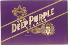 Deep Purple Rock and Roll original  1930's  inner cigar box label tobacco
