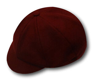 Traditional Wool Flannel School Uniform Caps - Adult Sizes - Many Colours