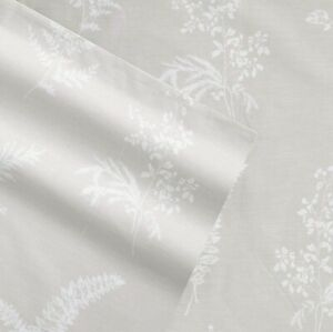 Stone Cottage Percale Collection King SZ Top Sheet 2 Pillowcases 100% Cotton 3pc