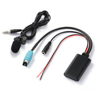Car Bluetooth Receiver Music Adapter Microphone Cable for Alpine KCE-236B MA2258
