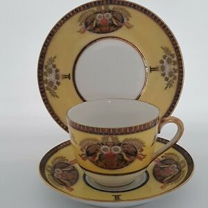 LOVELY HAND PAINTED AND GILDED NORITAKE TRIO