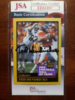 Ted Hendricks 1991 Enor Hall Of Fame Jsa Coa Hand Signed Authentic Autograph