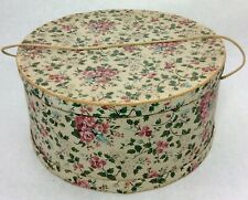 Vintage Ladies Hat Box Red Rose Floral Roses Pink Cottage Chic Shabby