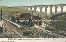 PORTUGAL LISBOA RAILWAYS ESTACAO DO CAMINHO DE FERRO E ARCOS DAS AGUAS LIVRES