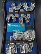 Dental Impression Trays Kit Edentulous 8 Pcs Stainless Steel