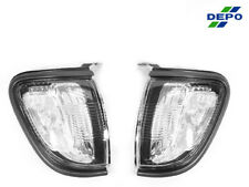DEPO Pair of Clear Front Corner Signal Lights Lamps For 2001-2004 Toyota Tacoma