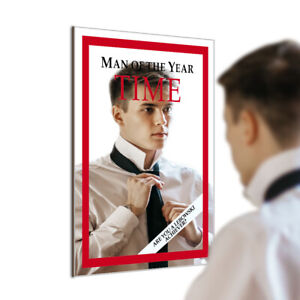 Man of The Year With The Time Magazine Cover Mirror Achiever Vogue Home Decor