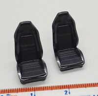 Set of (2) 1/24 1/25 High Quality Black Resin Cast Race Seats STYLE 1
