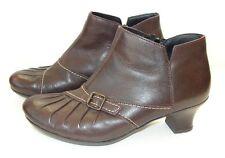 """Rieker Shoes Side Zip Booties Low 1.75"""" Heel ~ Women's EUR 36 / US 5.5~Morocco"""