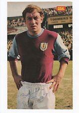 Ralph Coates Burnley 1964-1971 rare original signé magazine photo découpe