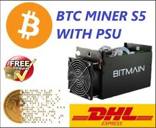 BTC Miner Antminer S5 1150g 28nm Bm1384 Used Machine Asic With Power Supply DHL