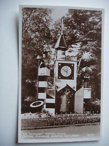 Guinness Festival Clock, Festival Pleasure Gardens, Battersea -1951 sepia photo
