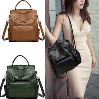 Women Girls Ladies Backpack Travel Shoulder Bag PU Leather Rucksack Handbag