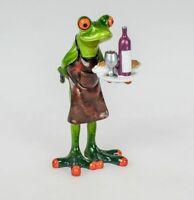 Formano Deko Figur Frosch auf Toilette Rudi Kunststein grün weiss schwarz NEU