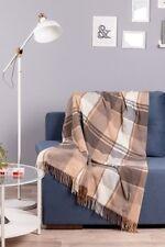 Super soft wool cashmere checkered plaid throw blanket 130*190 sm bedding