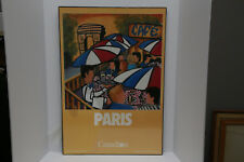 """Canadian Airlines (CP) PARIS Poster New Old Stock - Kerry Reynolds - 28"""" x 19"""""""
